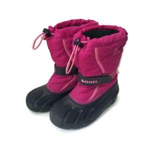 SOREL winter boots girls fuchsia pink sz 2